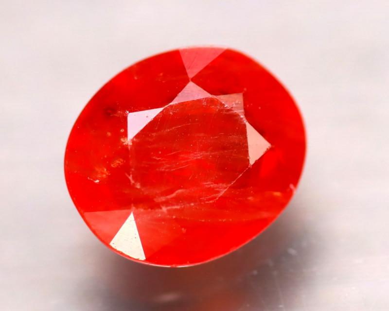 Sapphire 2.20Ct Natural Reddish Orange Sapphire D2205/B38
