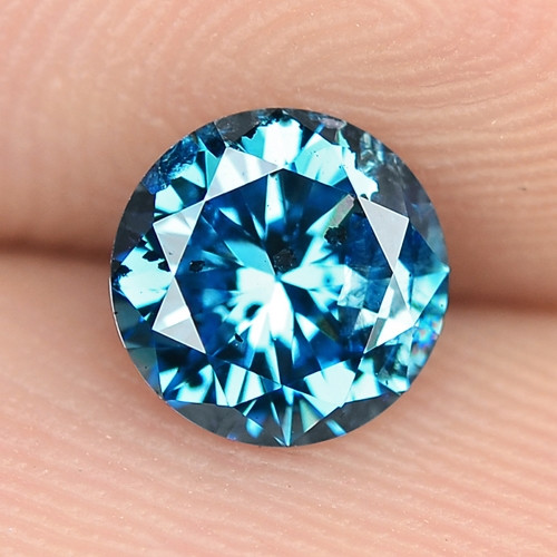 0.04 Cts Sparkling Rare Fancy Blue Color Natural Loose Diamond