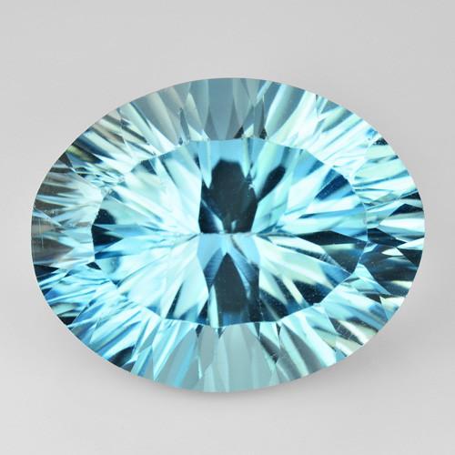 16.13 Carat Millennium Cut Super Swiss Blue Natural Topaz Gemstones