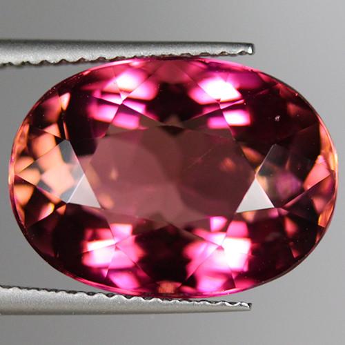 10.74CT15X11MM Grade Hot Pink Bearing ELBAITE TOURMALINE Mozambique-PTM109
