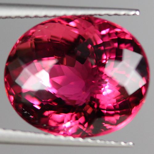 9.27 CT Full Sparkling! Natural Top Pink Tourmaline (Rubellite) PTM114