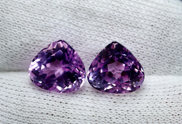 12.30 CT Natural - Unheated Pink Kunzite Gemstone Pair