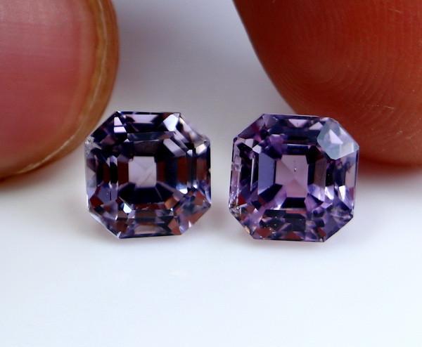 5 CT Natural - Unheated Pink Kunzite Gemstone Pair