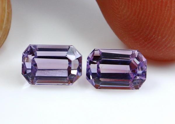 4.20 CT Natural - Unheated Pink Kunzite Gemstone Pair