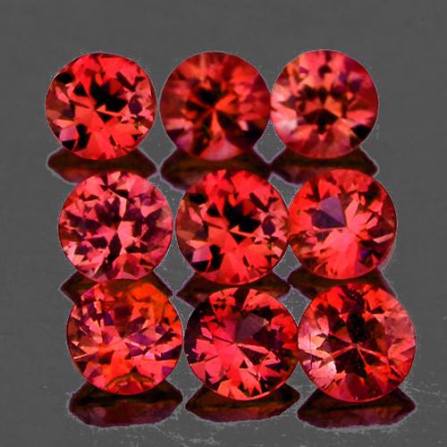 3.00 mm Round 9 pcs 1.07cts Pinkish Orange Spinel [VVS]