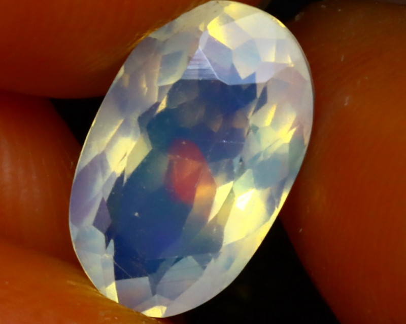 Welo Opal 1.84Ct Natural Faceted Ethiopian Play of Color Opal EF2325/A3
