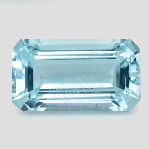 2.01  Cts Un Heated  Blue  Natural Aquamarine Loose Gemstone