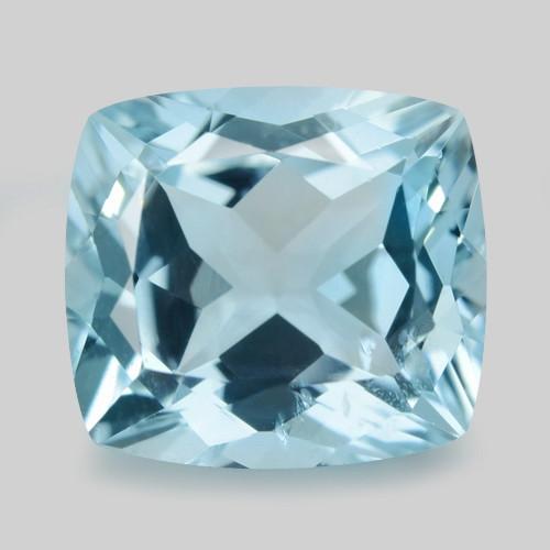 2.45 Cts Un Heated  Blue  Natural Aquamarine Loose Gemstone