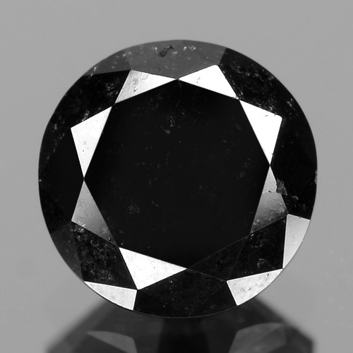 0.98 Cts Amazing Rare Fancy Black Color Natural Loose Diamond