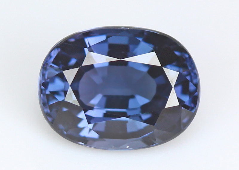 Burmese blue spinel, eye clean, rare, excellent cut.  #SN177-5