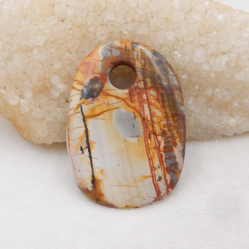 133.5cts Gorgeous Pendant,Multi-Color Picasso Jasper Gemstone Pendant,Large