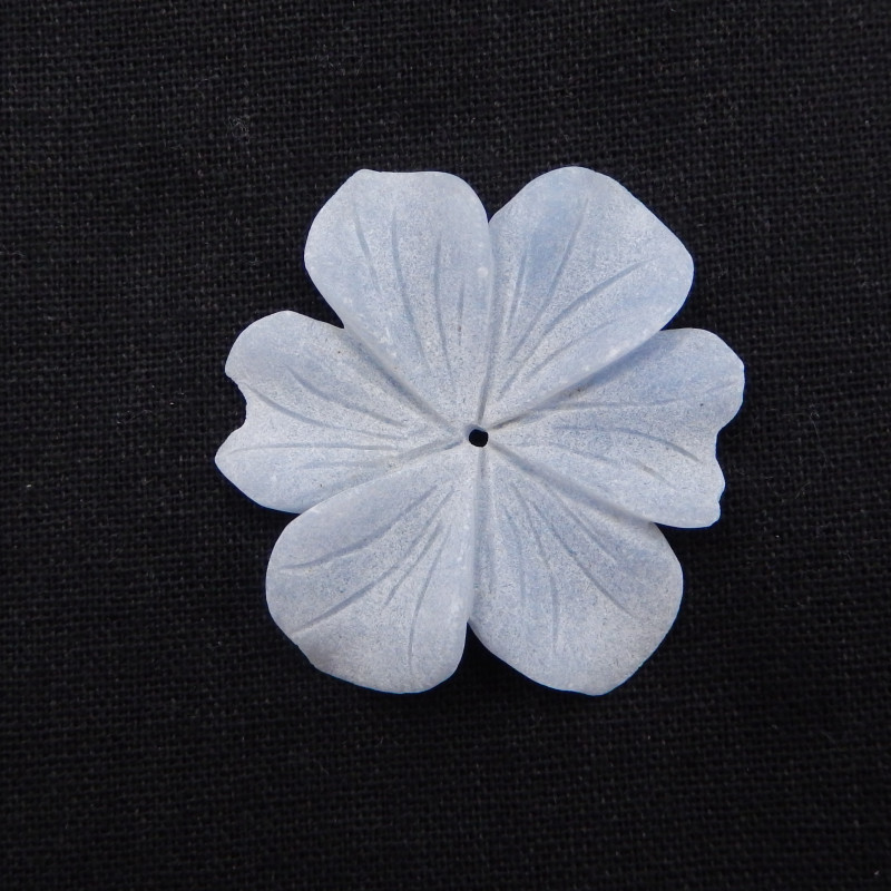 70.5cts Flower Pendant,Natural blue Jasper Handcarved Flower Necklace Penda