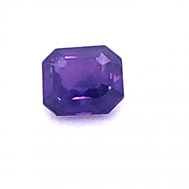 Unheated GIA Certified 1.08 Carat Purple Sapphire Octagonal Cut