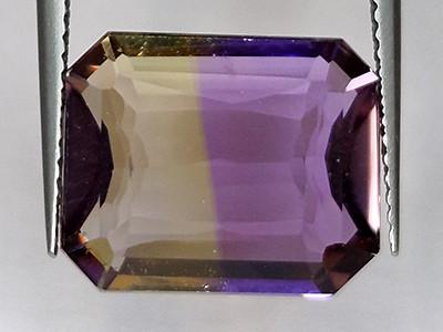 9.96 ct Natural Ametrine (Bolivianite) Emerald Cut No Heat