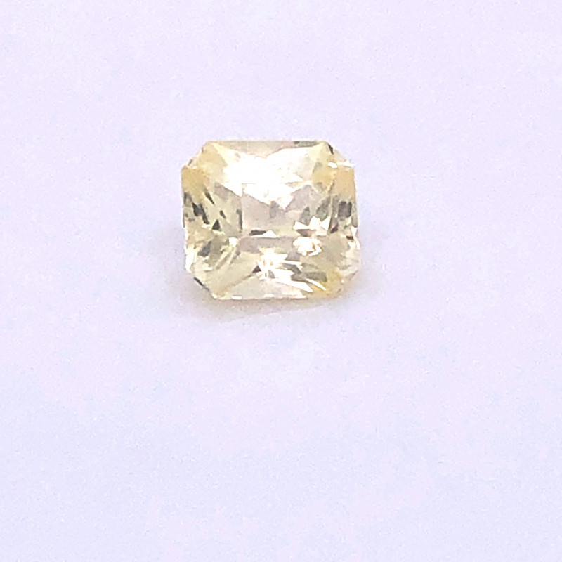 Unheated Yellow Sapphire GIA Certified 1.59 Carats Octagonal Cut