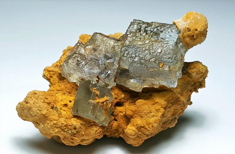 Aesthetic Natural color Damage free Gemmy Fluorite specimen 300Cts-P