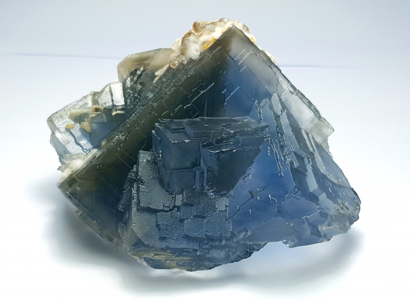 Stunning Natural Bicolor Damage free Phantom Fluorite with Calcite 725Cts-P