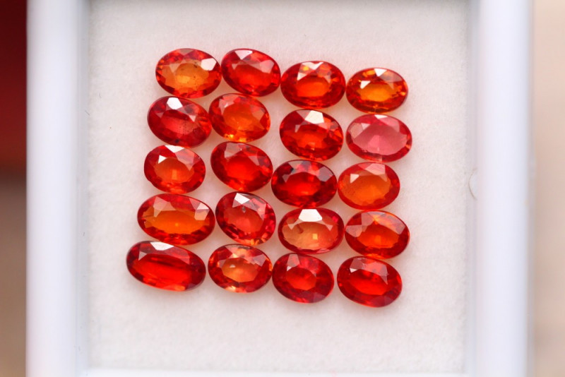 3.60ct Natural Songea Orange Sapphire Oval Cut Lot A940