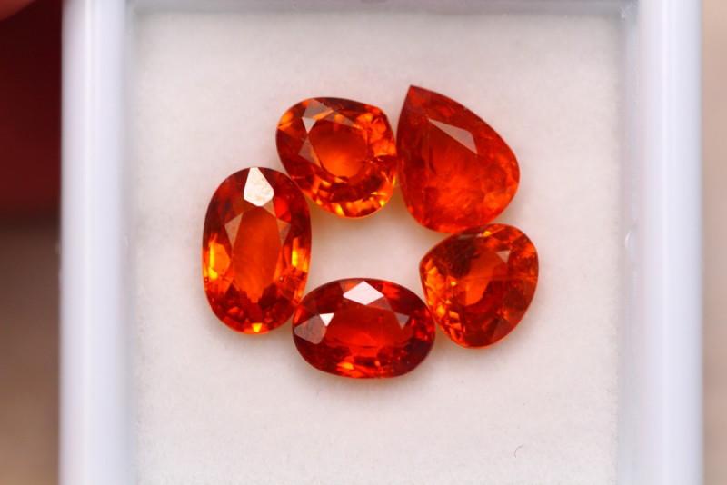 5.48ct Natural Orange Garnet Mix Cut Lot  A942