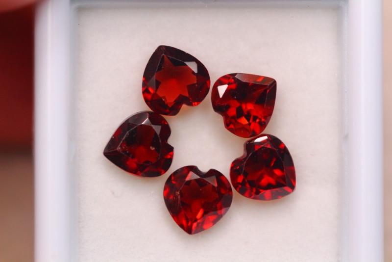 4.34ct Natural Rhodolite Garnet Heart Cut Lot A944