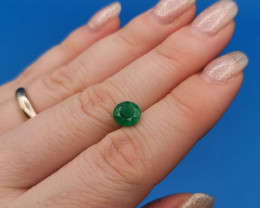 1,35ct Round Colombian Emeralds 38/75 Colombian Emerald emerald Natural col