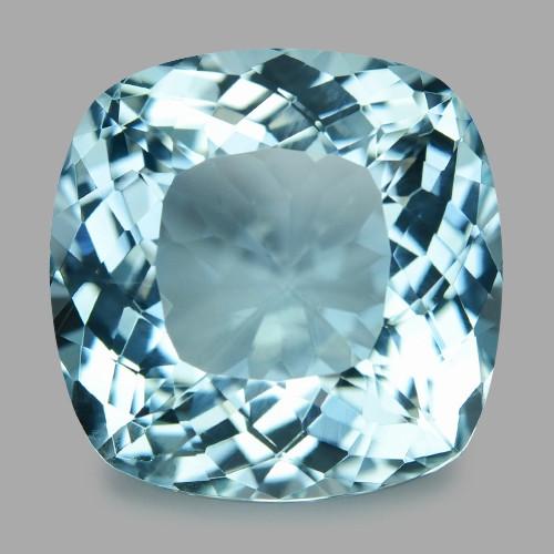 14.54 Cts Un Heated  Santa Maria Blue  Natural Aquamarine Loose Gemstone