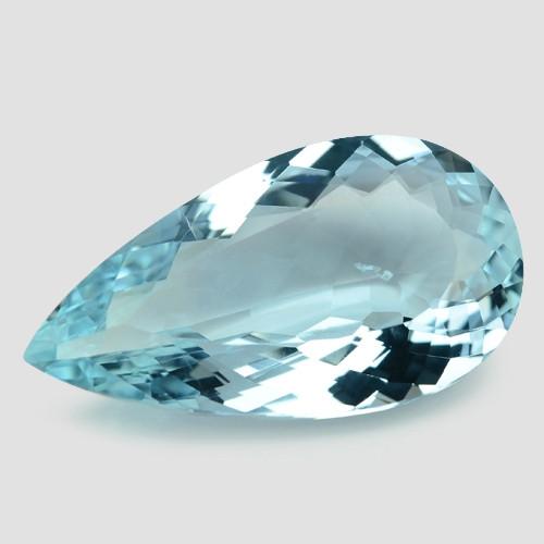 15.90 Cts Un Heated  Santa Maria Blue  Natural Aquamarine Loose Gemstone