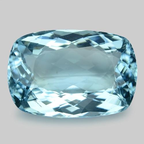 13.85 Cts Un Heated  Santa Maria Blue  Natural Aquamarine Loose Gemstone