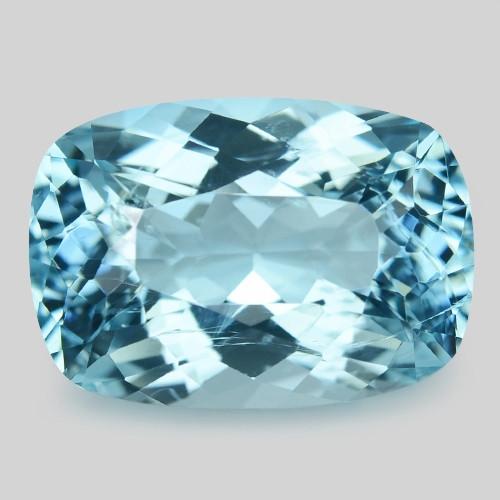 8.13 Cts Un Heated  Santa Maria Blue  Natural Aquamarine Loose Gemstone