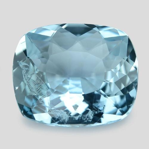 3.17 Cts Un Heated  Santa Maria Blue  Natural Aquamarine Loose Gemstone