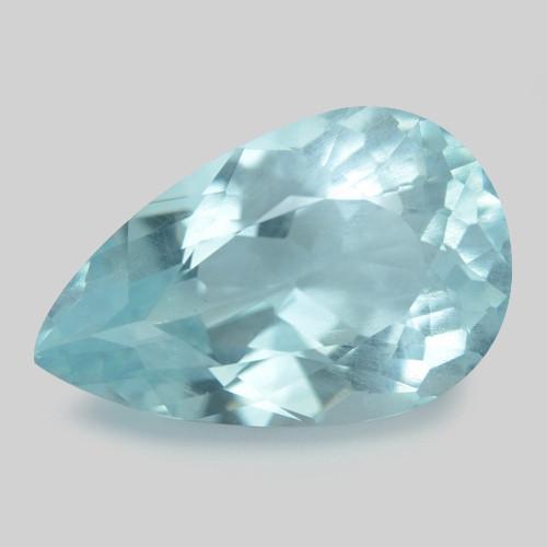 3.70 Cts Un Heated  Santa Maria Blue  Natural Aquamarine Loose Gemstone