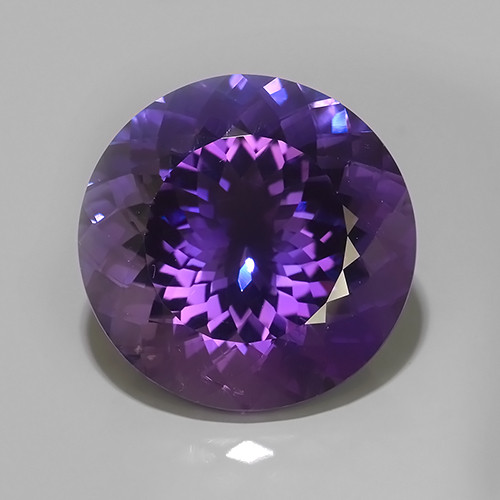 44.65 Cts Natural Purple Amethyst Exquisite Round Cut Glister~Excellent!!