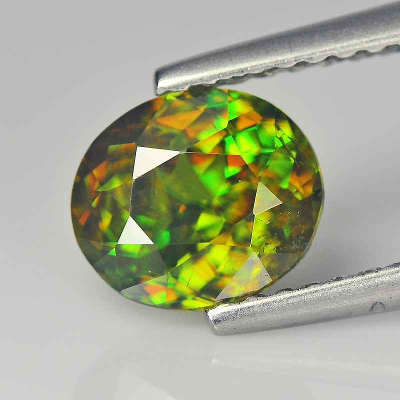 Magnificent Chrome Green pakistan Sphene 1.28 Cts Portuguese Cut BGC623