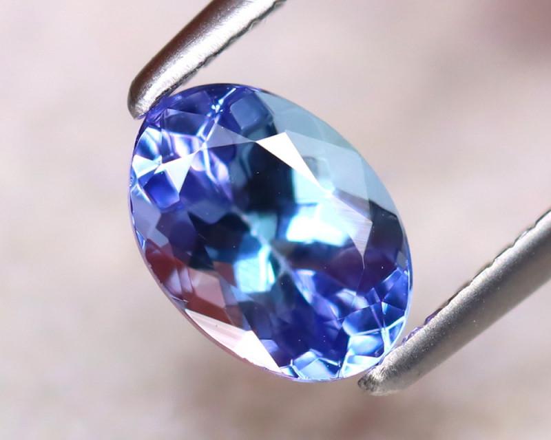 Tanzanite 0.91Ct Natural VVS Purplish Blue Tanzanite EF2719/D3