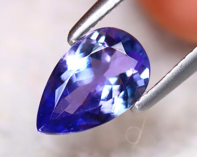 Tanzanite 0.91Ct Natural VVS Purplish Blue Tanzanite EF2723/D3