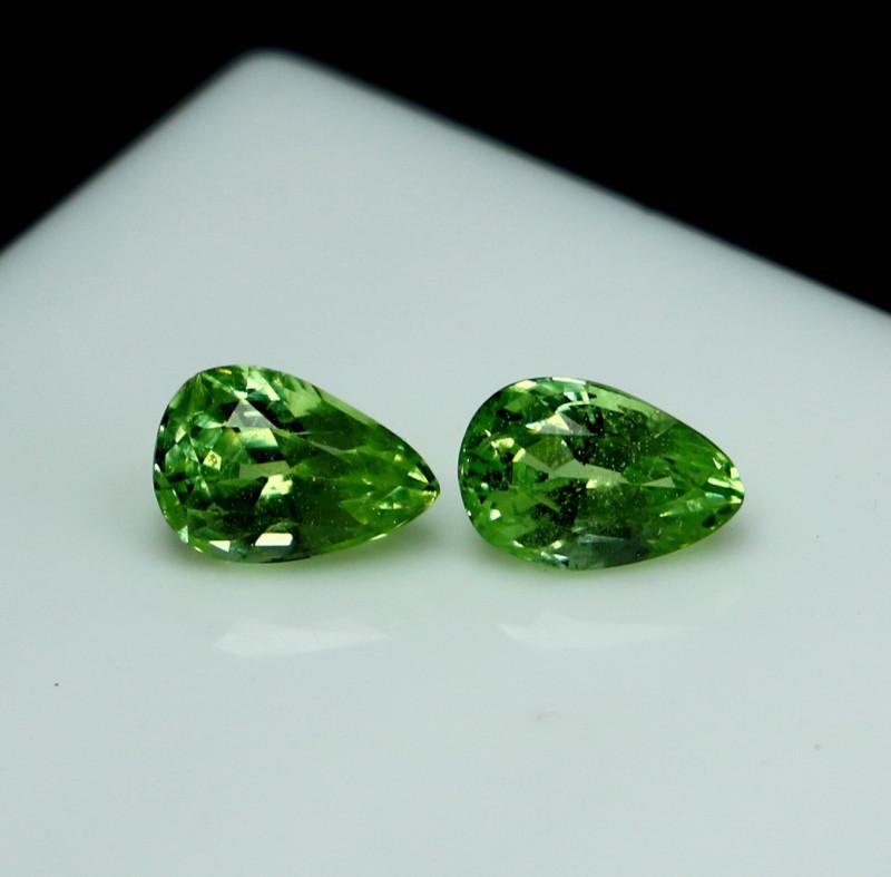 1.70 CTs Natural - Unheated Mint Garnet Gemstone Pair