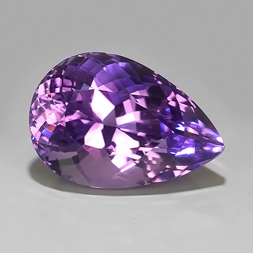 15.35 Cts Natural Purple Amethyst Exquisit Pear Cut Glister!!
