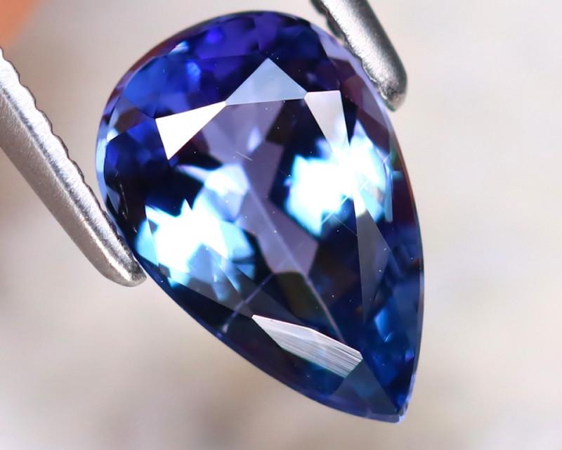 Tanzanite 1.44Ct Natural VVS Purplish Blue Tanzanite DR390/D4