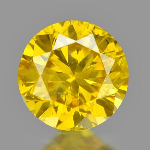 0.09 Cts Sparkling Rare Fancy Vivid Yellow Color Natural Loose Diamond