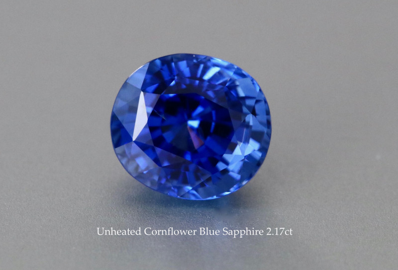 Unheated Eye Clean - Cornflower Blue Sapphire - 2.17ct - Oval - Certified
