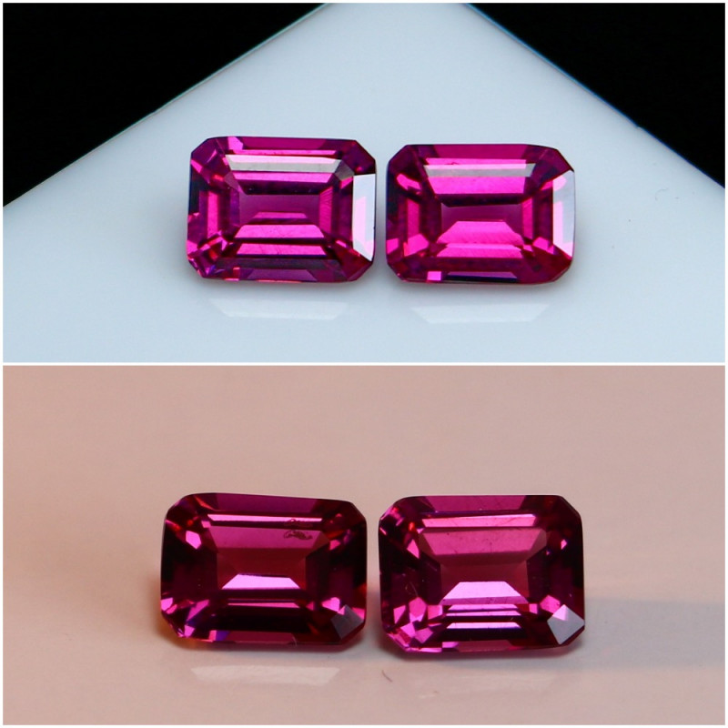 2.00 CTs Natural - Unheated Purple To Red Color Change Garnet Gemstone Pair