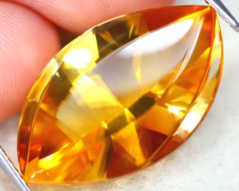 Citrine 13.54Ct VVS Designer Cut Natural Golden Yellow Citrine AT1144