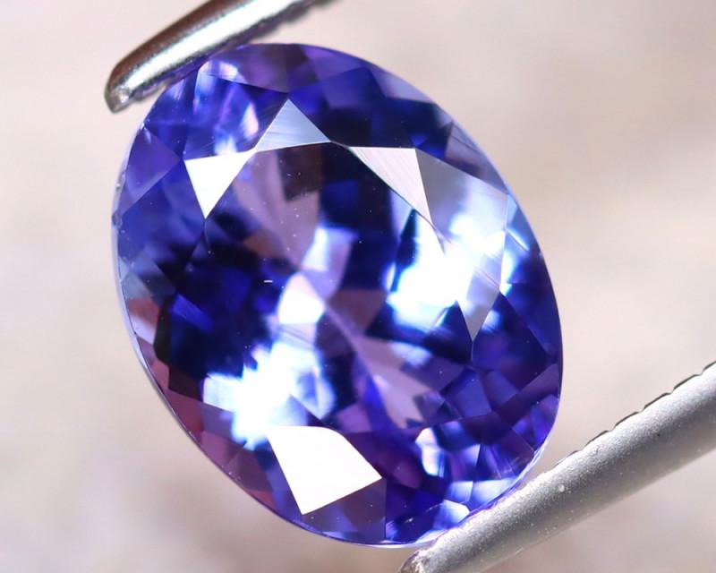 Tanzanite 2.03Ct Natural VVS Purplish Blue Tanzanite ER276/D4