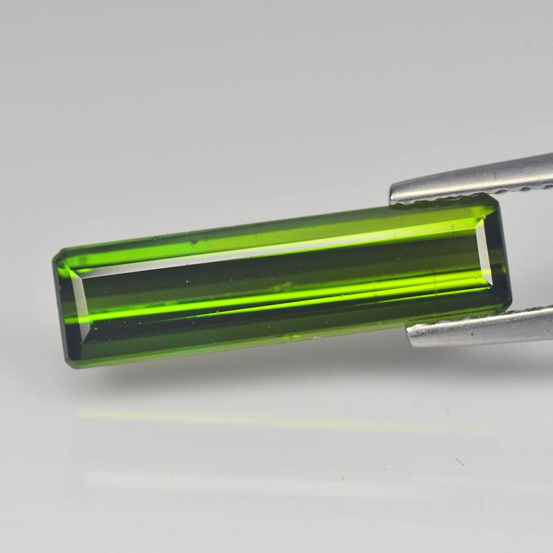 Phenomenal 2.47 Cts Brazilian Tourmaline Green Modern Step Cut BGC582