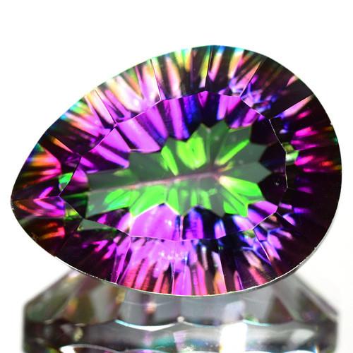 15.57 Cts Rare Fancy Rainbow Colors Natural Mystic Quartz
