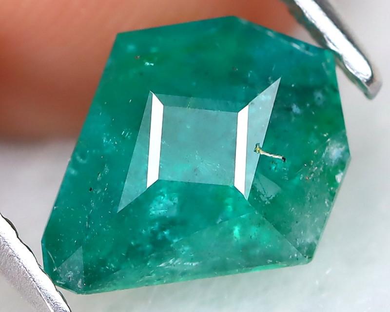 Zambian Emerald 1.50Ct Master Cut Natural Green Color Emerald AT1197