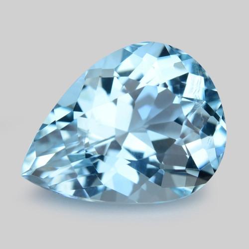 3.37 Cts Un Heated  Santa Maria Blue  Natural Aquamarine Loose Gemstone