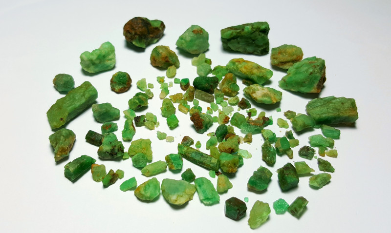 Beautiful Natural color Rough Emerald lot 250 Cts-Afghan#15