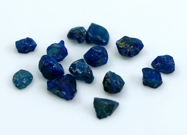 NR!!! 9.85 CTs Natural - Unheated Blue Sapphire Rough Lot