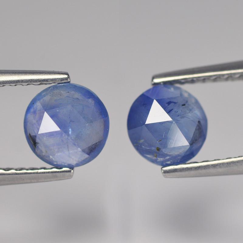 Foxy 2.1 Cts Cylon Sapphire Blue Round Rose Cut BGC603